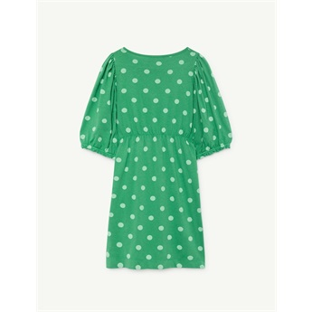 Swallow Dress Green Polka Dots