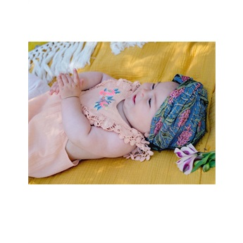 Baby Headband Eden Lagoon Leaves