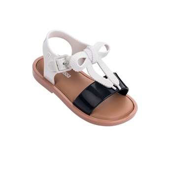 Mini Melissa Mar Sandal Black / White / Brown