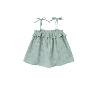 Ruffle Tube Top Seafoam