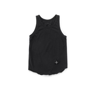 Basic Tank Top Dyed Black
