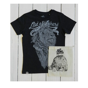 Lion T-Shirt Charcoal Melange