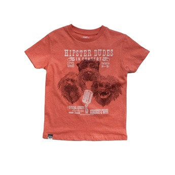 Tamarin Monkey T-Shirt Red Melange
