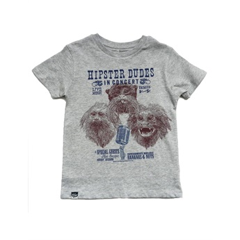 Tamarin Monkey T-Shirt Grey Melange