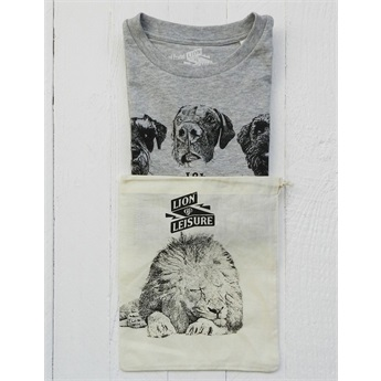 Dogs T-Shirt Grey Melange