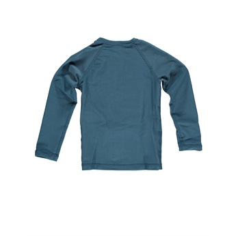 UPF50+ Ocean Ribbed Blue Long Sleeve