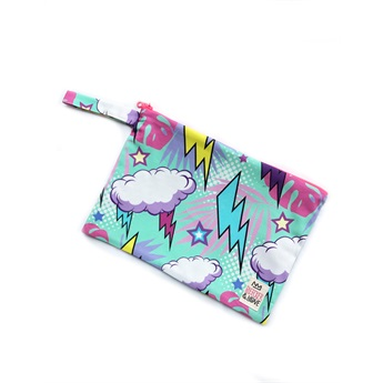 Waterproof Bag Flash Clouds Pink Medium