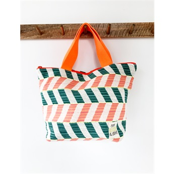 Waterproof Handbag Chevron Orange