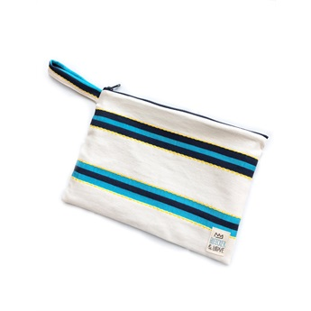 Waterproof Bag White Blue Medium