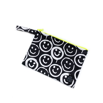 Waterproof Bag Black Smilies Medium