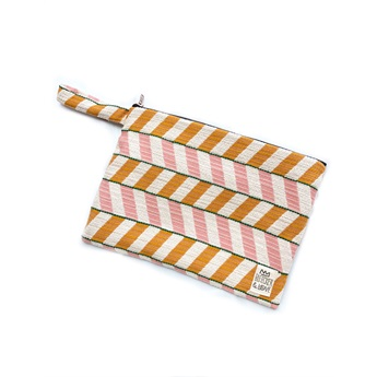 Waterproof Bag Chevron Orange Medium