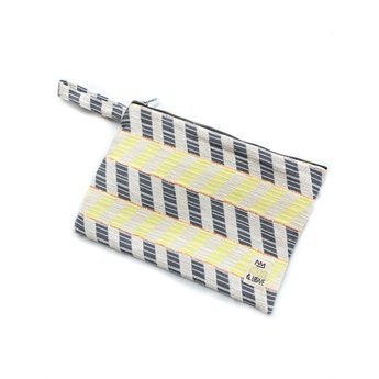 Waterproof Bag Chevron Yellow Medium