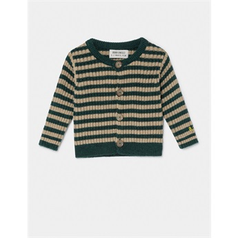 Baby Striped Knit Cardigan