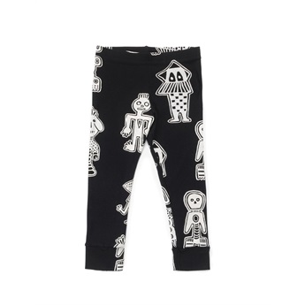 All Over Tribal Dancers Leggings Black