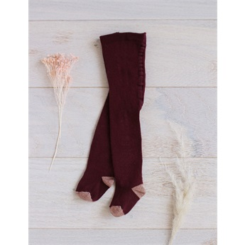 Baby Tights Lucia Burgundy