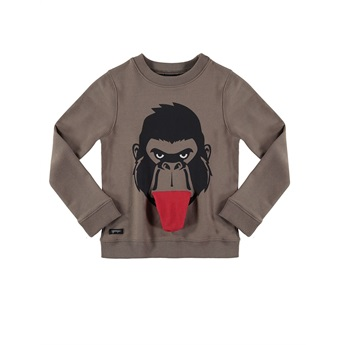 Gorilla Pocket Sweat Brown
