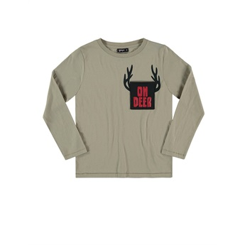 Deer Pocket T-Shirt Sand