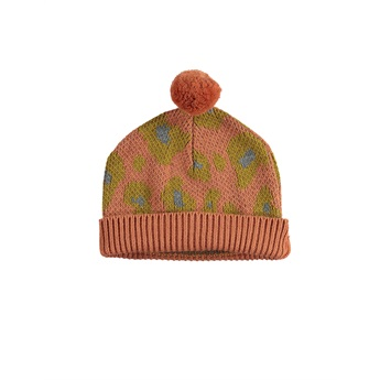 Knitted Hat Jacard Animal