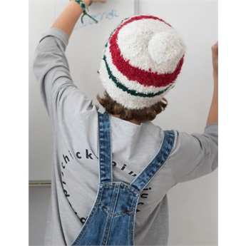 Knitted Hat Ecru