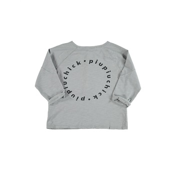 T-Shirt Light Grey Logo Print