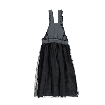 Long Dress With Tulle Anthracite