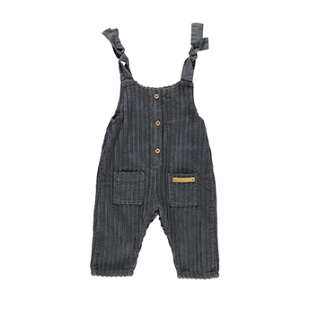 Baby Jumpsuit Anthracite Corduroy