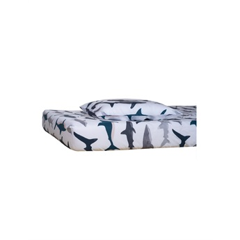 Sharks Fitted Sheet Single  90x200cm