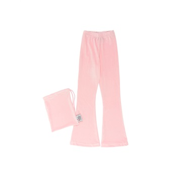 Velour Bell Bottoms Pink