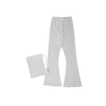Velour Bell Bottoms Light Grey
