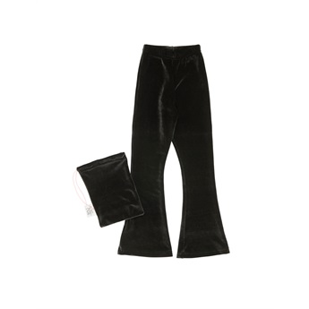 Velour Bell Bottoms Black