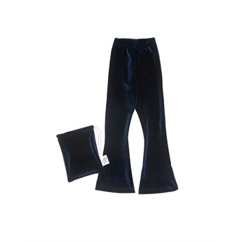 Velour Bell Bottoms Navy Blue