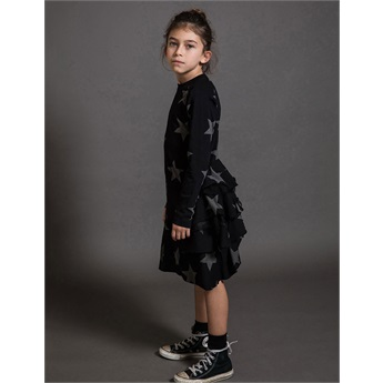 Baby Star Layered Dress Black