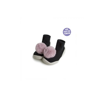 Slippers Pompoms Rose Quartz