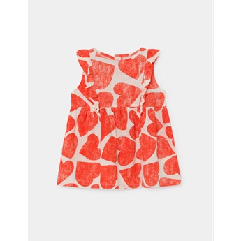 Baby All Over Hearts Ruffle Dress