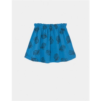 All Over Pineapple Jersey Skirt