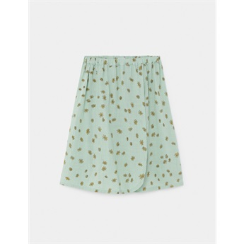 All Over Daisy Wrap Midi Skirt