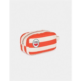 Red Striped Pouch