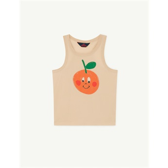 Tank Frog T-Shirt Brown Fruit