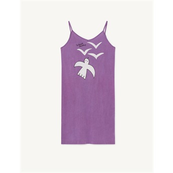 Gazel Dress Violet Birds