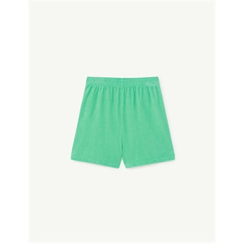Poodle Shorts Green Stars