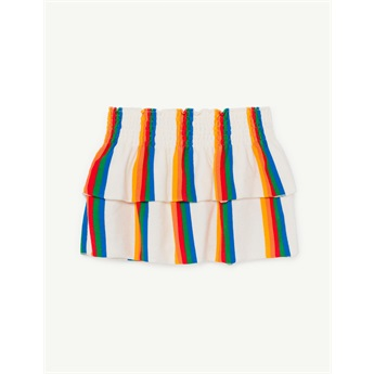 Wombat Skirt White Rainbow