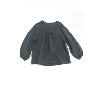 Crinkle Blouse Dark Blue