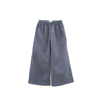 Crinkle Pants Dark Blue