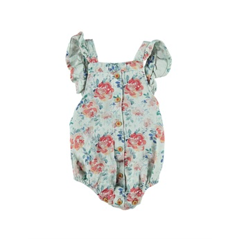 Baby Romper With Frills Flower