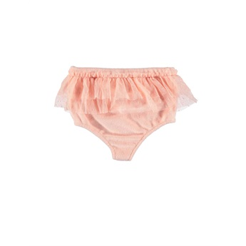 Baby High Waisted Shorties With Tulle