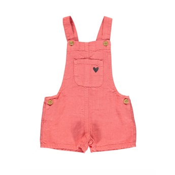 Short Dungarees Coral
