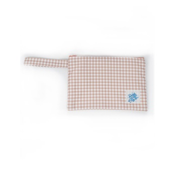 Pouch Small Nude Gingham
