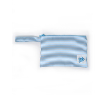 Pouch Small Blue Stripes