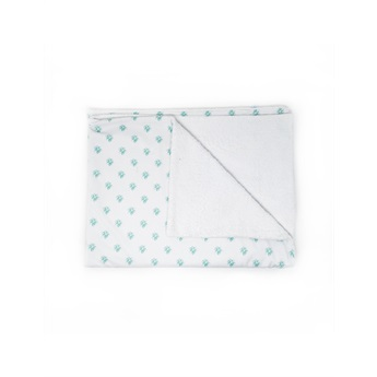 Beach Towel Aqua Flower