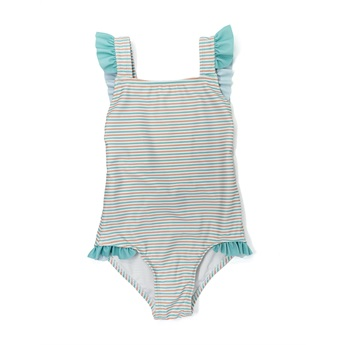 Aqua Nude Stripes One Piece